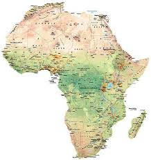 africa map high resolution views of africa tracing the human footprint map national