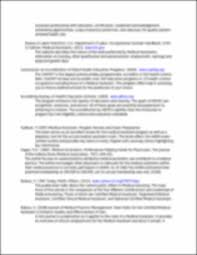 annotated bibliography of medical assistants annotated
