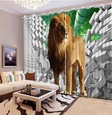 online get cheap lion print curtains aliexpress com alibaba group