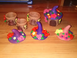craft tutorial clay fairy house box youtube