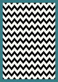 black and white chevron striped turquoise border rug milliken