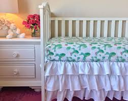 white crib skirt etsy
