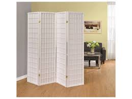 folding screen room divider coaster folding screens four panel white folding screen del sol