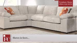 corner couch buoyant dexter jumbo cord corner sofa by furniture choice youtube