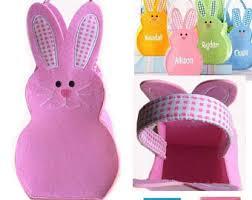 bunny easter basket bunny easter basket etsy