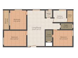 East Meadows Floor Plan Sv Meadows 3bhk Apartments For Sale In Kaggadasapura Bangalore