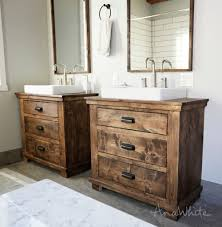 Diy Rustic Bathroom Vanity White Rustic Bathroom Vanities Diy Projects