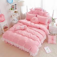 princess lace single double bedding set twin full queen king