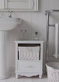 Freestanding White Bathroom Furniture A Crisp White Freestanding Bathroom Storage Furniture A Narrow