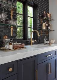 blue kitchen cabinets with copper hardware 21 navy and copper kitchens ideas copper kitchen navy and