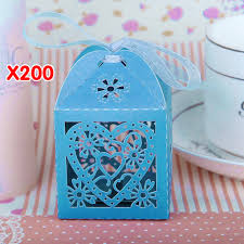 50 100 200 love heart favor ribbon gift boxes candy box wedding