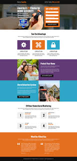 free online home page design home security free quote lead capture landing page effective