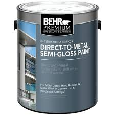 behr premium 1 gal black semi gloss direct to metal interior