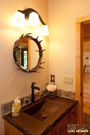 Log Cabin Bathroom Vanities by Golden Eagle Log And Timber Homes Log Home Cabin Pictures