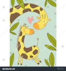s day giraffe giraffe baby mothers day stock vector 680414896