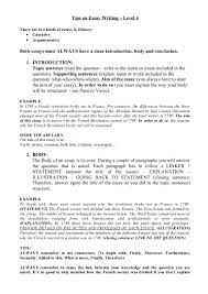 french essay sample tips on essay writing level 4