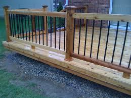 metal banister ideas wood deck metal balusters for deck railings