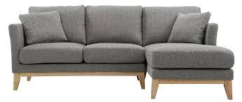 canapé miliboo canapé d angle droit scandinave gris clair déhoussable oslo miliboo