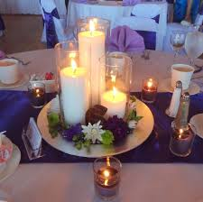 Candle Centerpieces Our Simple Candle Centerpiece Wedding Centerpieces Something