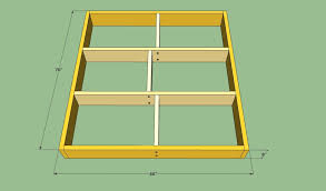 How To Build A Platform Queen Bed Frame by Platform Bed Frame Plans Howtospecialist How To Build Step By