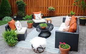 patio furniture decorating ideas patio decorating ideas a modern chic patio refresh the home depot