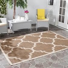 shop for safavieh courtyard quatrefoil brown indoor outdoor rug