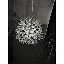 Glass Ceiling Pendant Light Metallux Astro 9 Light Halogen Clear Glass Ceiling Pendant