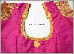 boutique blouses designer embroidery blouses in bangalore by angalakruthi