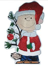 Peanuts Outdoor Christmas Decorations Amazon Com Productworks 42 Inch Peanuts Metal Charlie Brown With