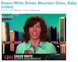 Shaun White Meme - shaun white makes a smooth save during an interview question about