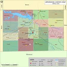 road map of iowa usa appanoose county map iowa