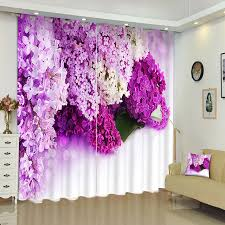 vorhã nge fã r schlafzimmer senisaihon 3d vorhänge lila blumen muster panel stoff schlafzimmer