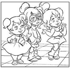 chipettes coloring pages cartoon coloring pages
