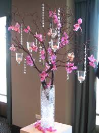 Lights In Vase Centro De Mesa Con Ramas De árbol Cuentas Como Relleno De Jarrón