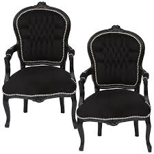 Esszimmerst Le Antik Stühle Sessel Set Farbe Schwarz 2 Stühle Set Barock Sessel Antik