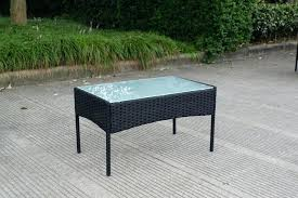Rattan Wicker Patio Furniture Wicker Outdoor Bench 4 Piece Cushioned Outdoor Rattan Wicker Sofa