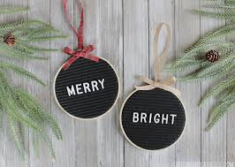 letter board ornaments