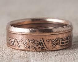 wedding ring japan japanese coin ring etsy