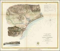 santa barbara california map preliminary sketch of santa barbara california 1853 barry