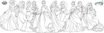 all princess coloring pages funycoloring