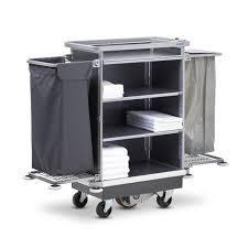 les chariots pour femme de chambre avec accessoires pratiques wanzl