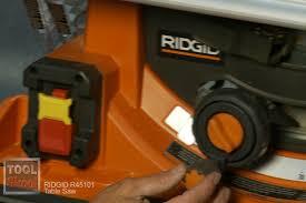 Ridgid Table Saw Review Ridgid 45101 10