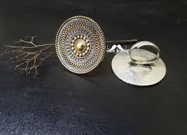 big silver rings images Tribal adjustable big silver rawa ring dual tone macs jewelry jpg