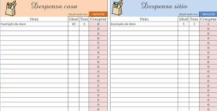 dispensa excel organize sua despensa usando uma planilha do excel planner