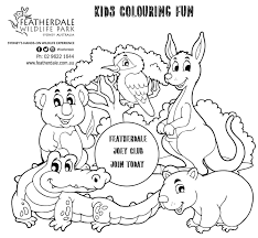 kids club colouring fun featherdale wildlife park sydney