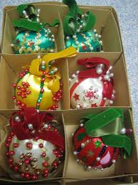 250 best vintage sequined ornaments kits images on