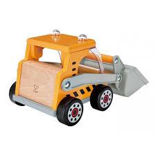tracteur en bois camion pelleteuse jouet en bois hape tracteur construction