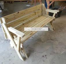 Picnic Table Bench Combo Plan Folding Picnic Table Bench Best Tables