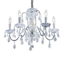 Classic Chandelier by Shop Classic Lighting Daniele 22 In 5 Light Chrome Crystal