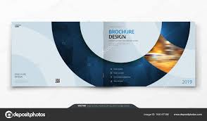 cover layout com landscape cover design blue corporate business rectangle cover